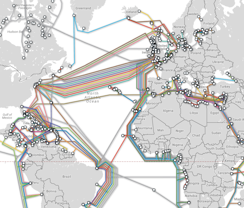 submarinecablemap Intercontinental Submarine Cable Communication in High Demand