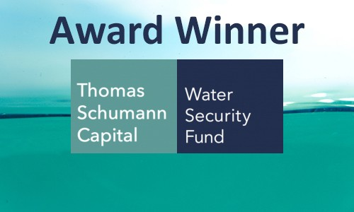 Thomas Schumann Capital named Water Risk Investment Adviser of the Year 2018